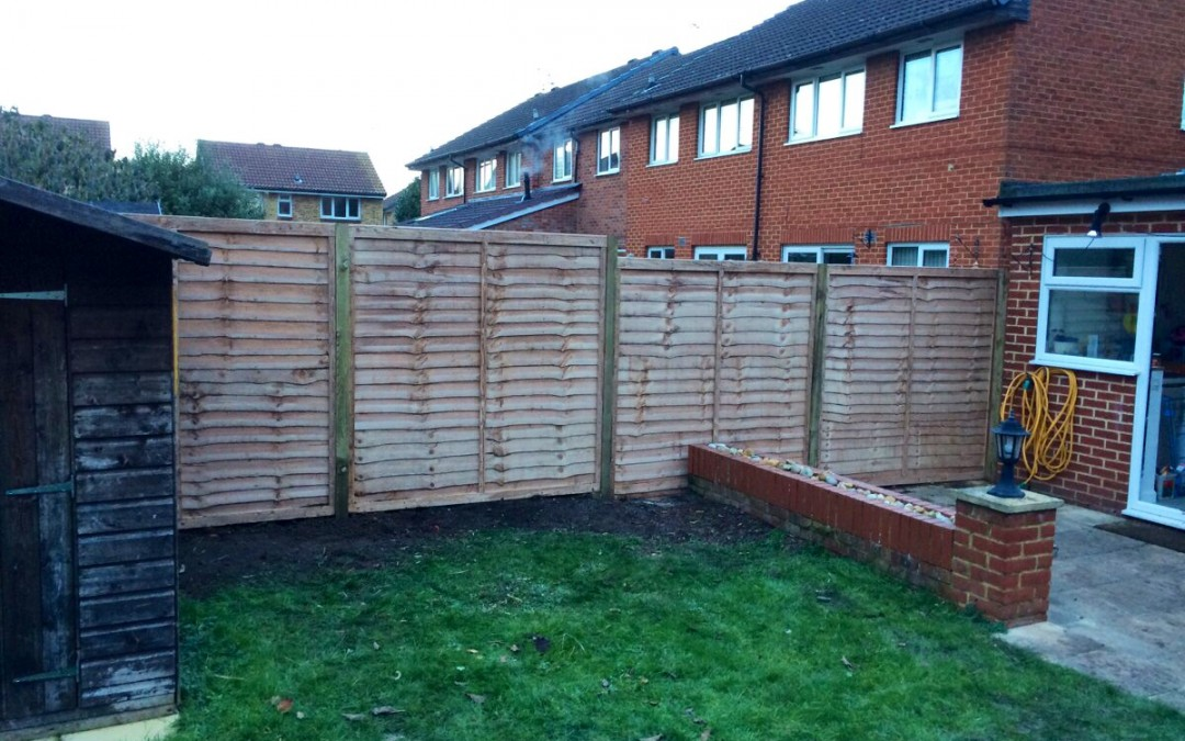 Dan & Freya's New Fence