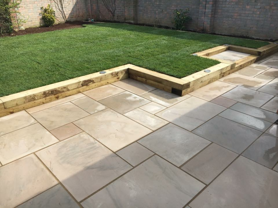 Kerry s new patio and lawn mh landscapes for Garden design kerry