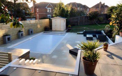 Craig & Mel's Contemporary Pool Area