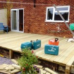 new decking structure being built