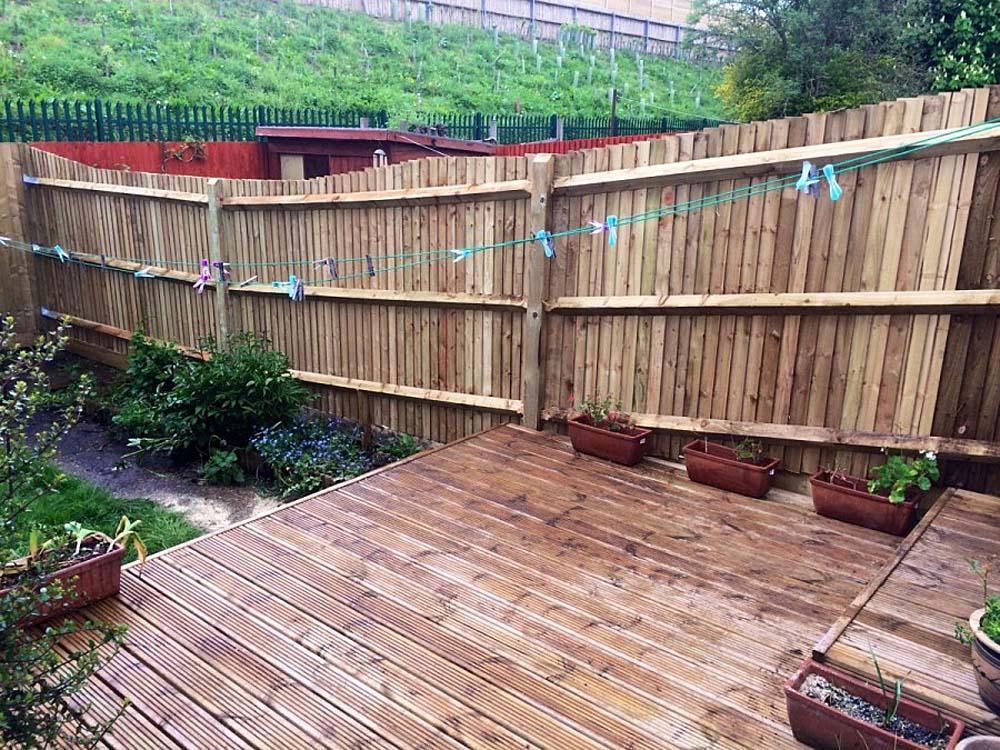 Tina's Sun Deck and New Fence