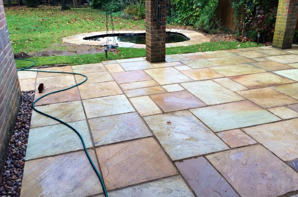 Heather's Natural Sandstone Patio And Pond